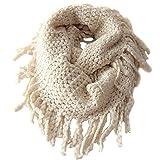 Tusong Winter Warmer Unisex Baby Kids Toddler Knit Tassels Shawl Scarf (Beige) (Color: Beige, Tamaño: Small)
