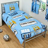 Manchester City Official Single Duvet Set - Multi-Colour