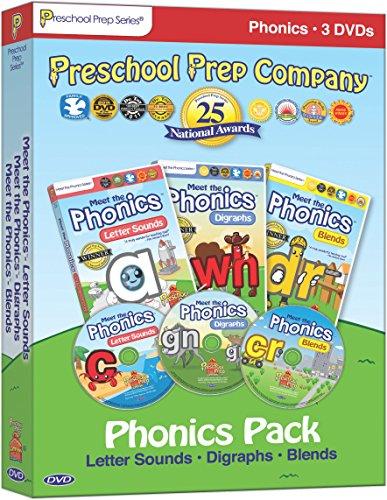 Meet the Phonics Pack - 3 DVD Boxed Set (Meet the Letter Sounds, Meet the Digraphs & Meet the Blends)