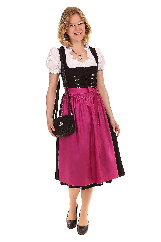 Moser Bekleidung Damen Dirndl Midi 65 – 70cm Charline1 56629 mit Susi 58046 pink kaufen
