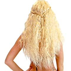 Game of Thrones GOT Khaleesi Daenerys Targaryen Warrior Princess Costume Wig