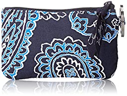 Vera Bradley Zip ID Card Case, Blue Bandana, One Size
