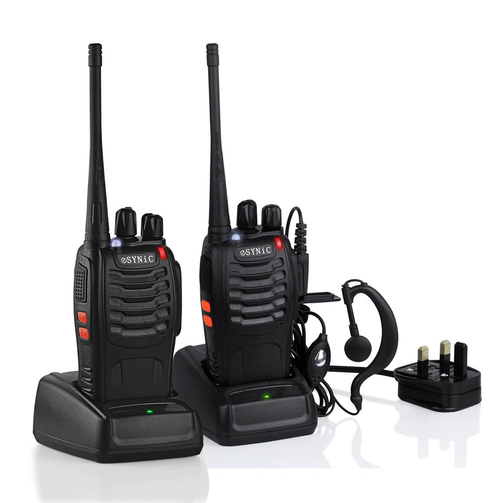 ESYNiC TL066 2 pcs Long Range Two-Way Radio UHF 400-470MHz Walkie Talkie