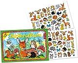 Stickeralbum mit über 80 Sticker * SÜSSE WALDTIERE * von LUTZ MAUDER // 72009 // Rehe Hasen Igel Rehkitz Mäuse Geschenk Tattoo Kindersticker Aufkleber Stickerbuch