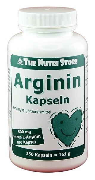 Arginin 500 mg pro Kapsel - 250 Stk.