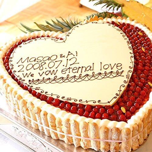 最高級洋菓子 特注ハート型 シュス木苺 レアチーズケーキ 14cm