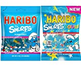 Haribo Smurfs Gummi Candy Combo Pack (2 Bags)