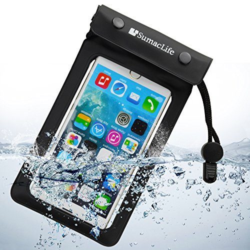 SumacLife discount duty free Sumaclife Universal Waterproof Cell Phone Case for Apple Iphone 6 Plus 6/ Lg G3 / BLU Advanced 4.0(black)