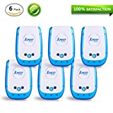 Kpest Pest Control Ultrasonic Repellent,Electronic Plug In Pest Repeller,Pack of 6 Repellent For Mice,Mosquitoes, Cockroaches, Ants, Rodents, Flies, Bugs, Spiders, Other Insects