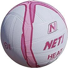 Net1 calor asistencia agarre todo superficie de goma baloncesto blanco/rosa PVP £15