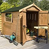 6ft x 6ft Shiplap Apex Wooden Storage Shed - Premier Groundsman - Brand 6x6 New Double Door Full Tongue and Groove Sheds