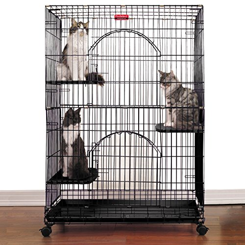 ProSelect Foldable Cat Cages 48″ High-Black