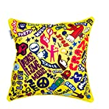 The Crazy Me Music Bug Cushion Cover(16 By 16 Inch)