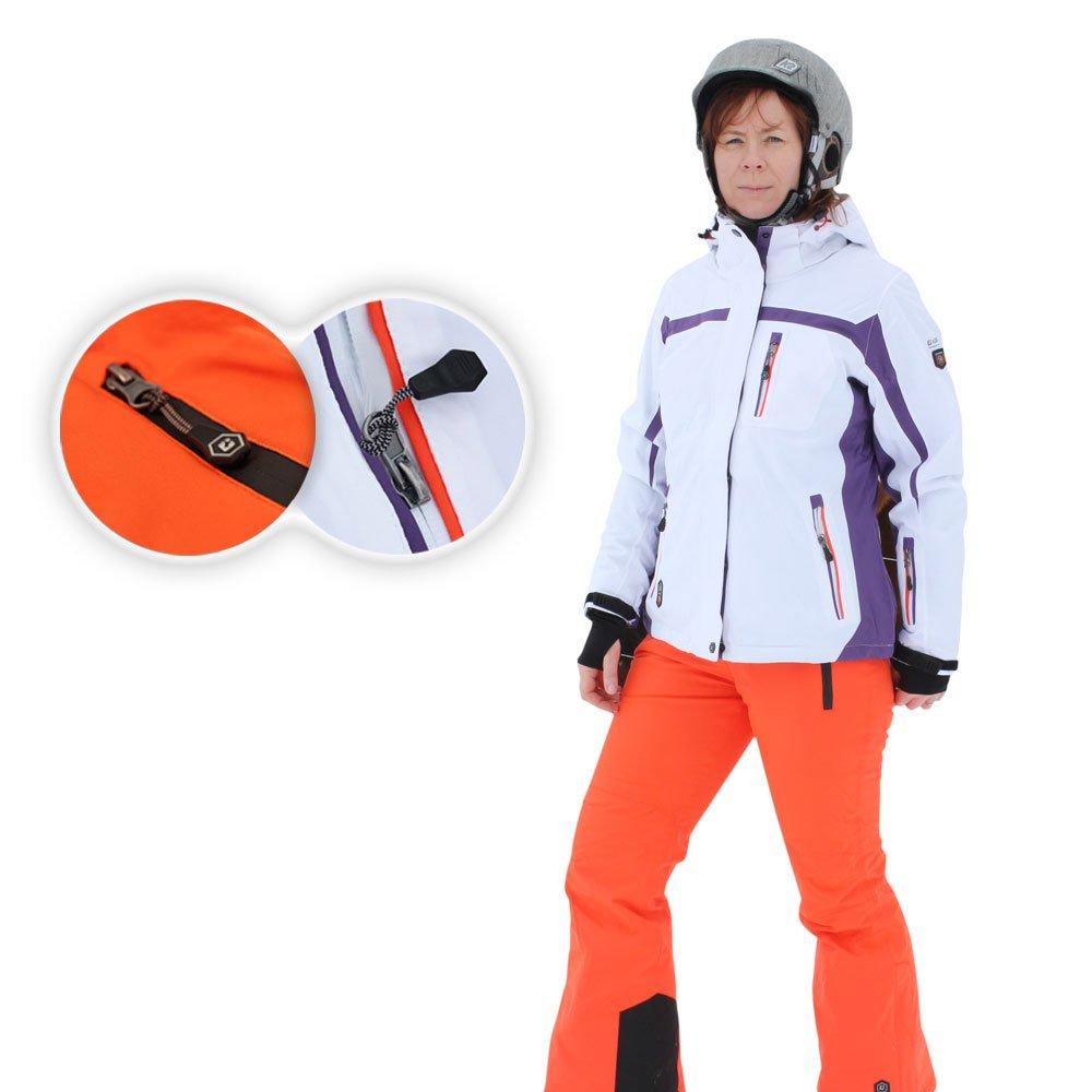 """Killtec """"Matura"""" Damen Skijacke in Weiß oder Violett und """"Pyma"""" Hose in Feuerrot zur Wahl kaufen"""