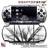 Lightning Black WraptorSkinz Skin and Screen Protector Kit fits Sony PSP 30 ....