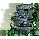 Alpine WIN220 Waterfall Tabletop Fountain with White LED Light (Discontinued by Manufacturer)