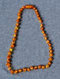 Raw Baltic Amber Teething Necklace - Maximum Pain Relief - Safety Knotted