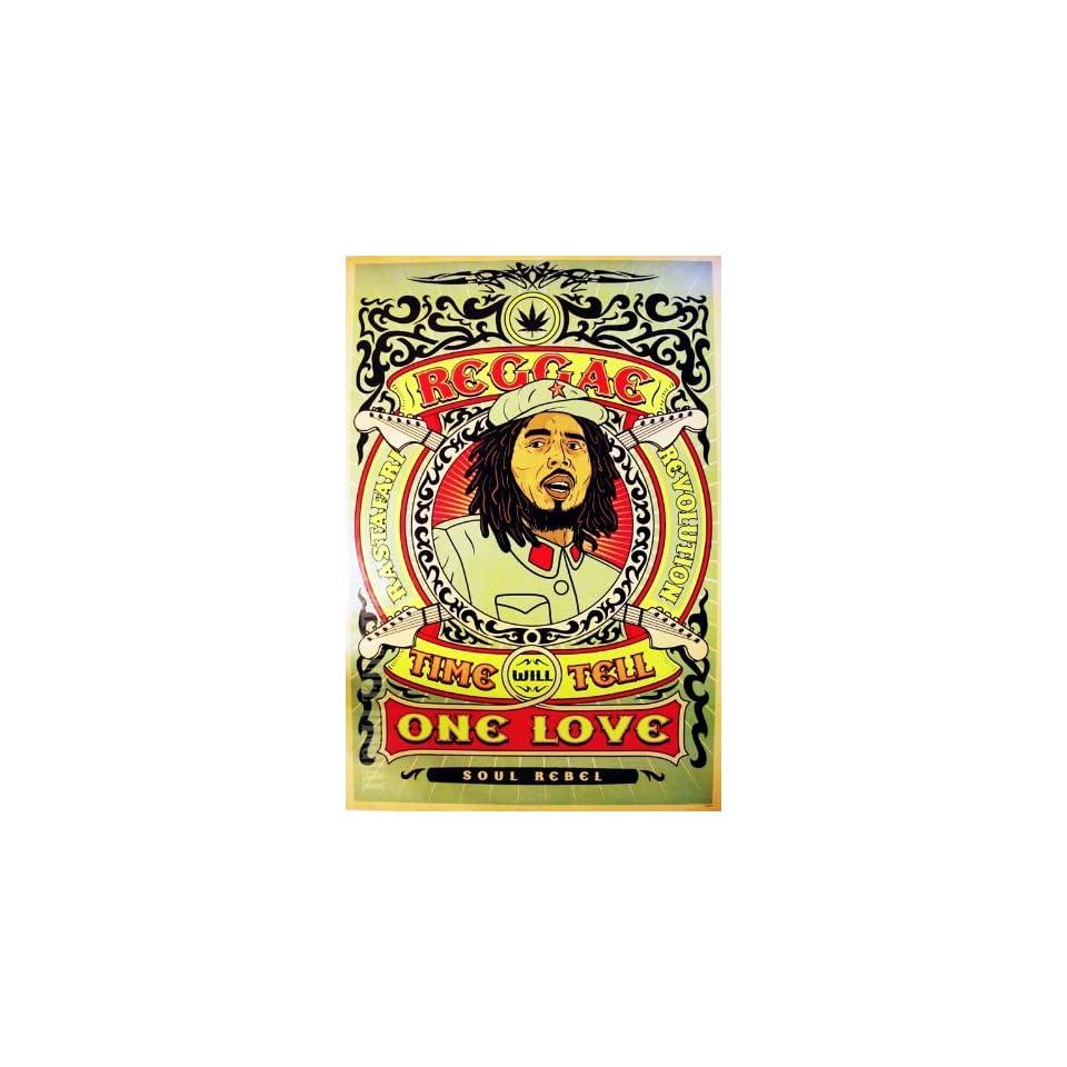 J 1824 Bob Marley Reggae, Ska, Rocksteady Music Collections,decorative Poster Print Vintage New Size 35 X 24 Inch.