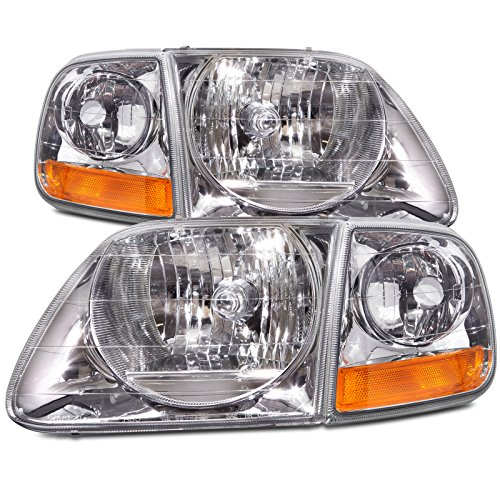 Ford F150/Expedition 4-Piece Headlights Set w/Xenon Bulbs (03 Ford F150 Headlights compare prices)