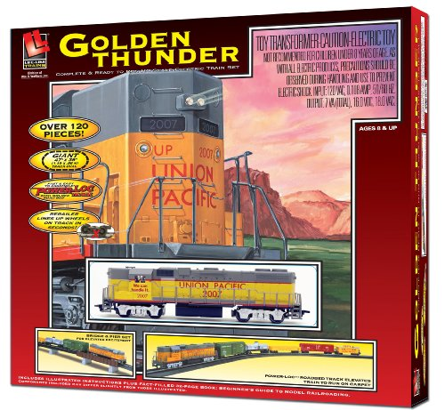 Life-Like-Trains-HO-Scale-Golden-Thunder-Electric-Train-Set
