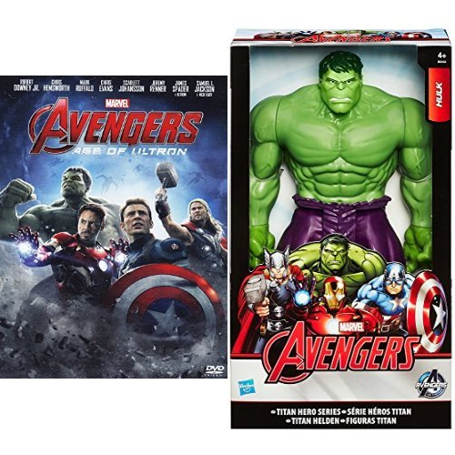 Avengers - Age of Ultron DVD + Action Figures Hulk