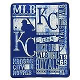"MLB Team ""Vintage Baseball"" Lightweight Fleece Throw Blanket (Kansas City Royals, 50"" x 60"")"