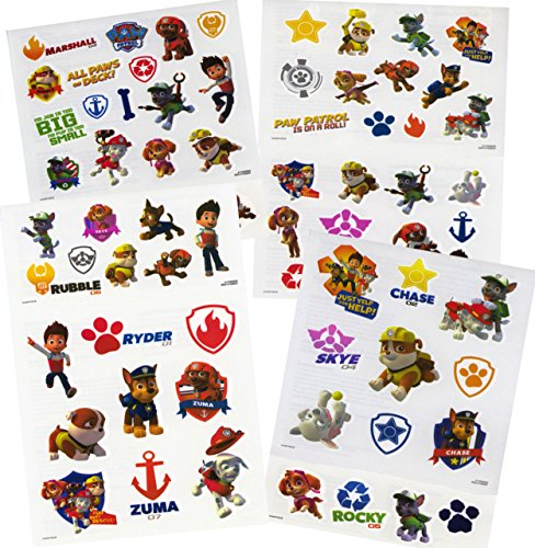 PAW Patrol Tattoos (75 Temporary Tattoos)