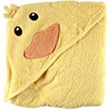 Luvable Friends Animal Face Hooded Woven Terry Baby Towel, Duck