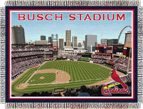 "St. Louis Cardinals ""Stadium"" 48"" x 60"" Tapestry Throw Blanket at Amazon.com"