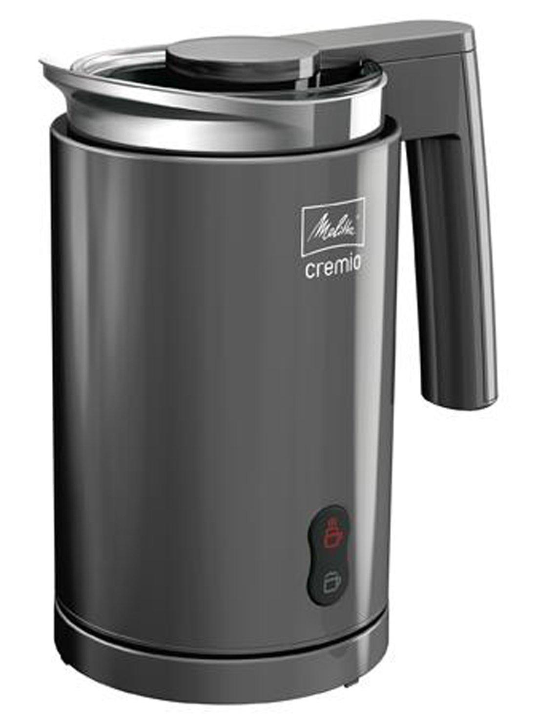 Melitta 100501 gr Milchaufschäumer Cremio für kalte und warme Milch, anthrazitgrau Überprüfung und weitere Informationen