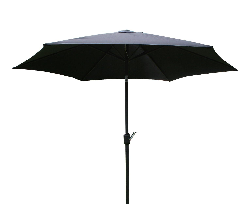 Sonnenschirm - Gartenschirm 2,7 m - Ständer kippbar 38 mm - Metall - Schwarz