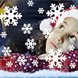 雪の結晶 スノークリスタル ステッカー シール 白 wall019