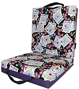 Purple Bingo Card Seat Double Cushion from National Bingo