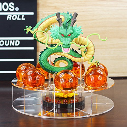 Run Far Hot Dragon Ball Z Dragonball Shenron Shenlong Crystal Balls Figure Toys + Shell Collection Model Doll Great Gift (Dbz Pan compare prices)