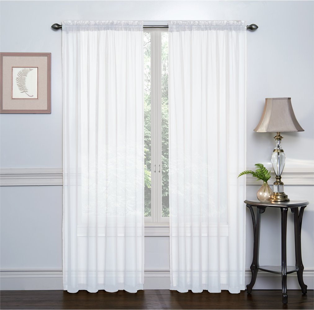 hlc me white 2 pack 108 inch x 84 inch window curtain