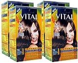 4x Schwarzkopf Vital Colors Intensive Cream Colour Medium Brown 70