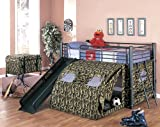 item GI Joe loft bed with slide and tent