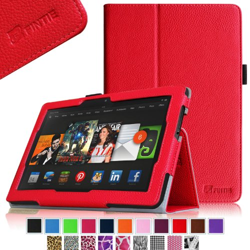 Best Price Fintie Kindle Fire HDX 8.9 Folio Case Slim Fit Leather Cover (will fit Amazon Kindle Fire HDX 8.9″ Tablet 2014 4th Generation and 2013 3rd Generation) – Red