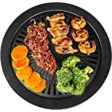 Healthy Cooking Style Stove Top Barbecue Grill - Nonstick BBQ Stovetop (13 Inches)