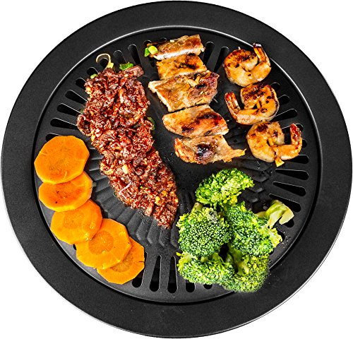Healthy Cooking Style Stove Top Barbecue Grill - Nonstick BBQ Stovetop (13 Inches) (Stove Top Gas Grill compare prices)