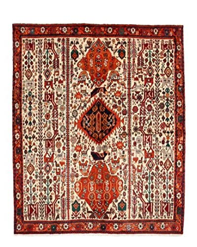 "Darya Rugs Authentic Persian Rug, Off-White, 5' 1"" x 6' 2"""