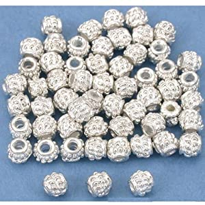 Bali Rope Spacer Beads Silver Plt Beading 4mm Approx 55