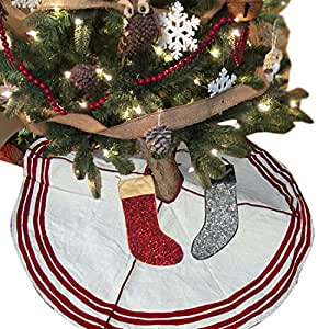 Buy christmas tree skirt with stocking tree decorations - Buy christmas decorations online india ...