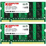 Komputerbay PC2 4300 533 SODIMM - Kit de 2 memoria SODIMM (2 x 1 GB, DDR2, 533 MHz, PC2-4200)