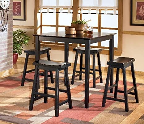 Contemporary Black Conrad DRM Counter Height Table Set