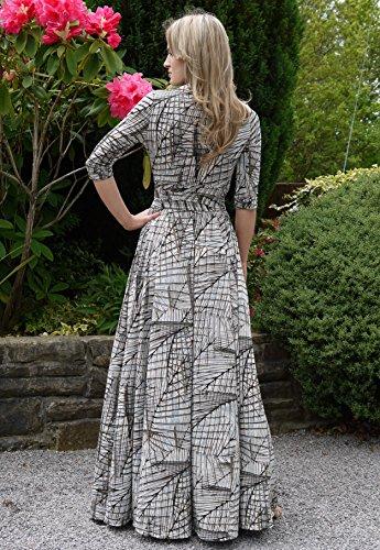 WINTER SALE! Elegant Ladies Maxi Party Dress Vintage Style Wrap Design 4