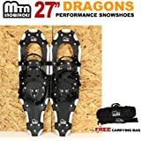 "New MTN Man Woman Kid Youth 27"" white Snowshoes with Nordic Walking Pole Free Bag"
