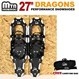 """Search : New MTN Man Woman Kid Youth 27"""" white Snowshoes with Nordic Walking Pole Free Bag"""