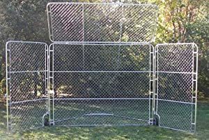 Portable Backstop with Top & Side Panels by Olympia Sports