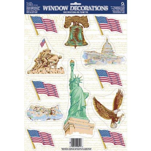 America Vinyl Window Decoration